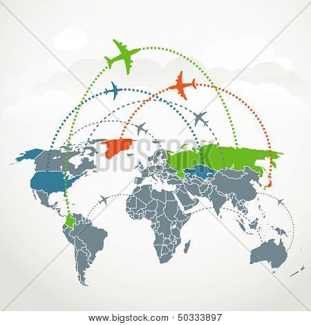 Abstract communication scheme of foreign flights