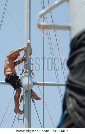 Man Working Aloft