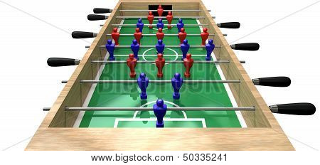 Foosball Table High Top View