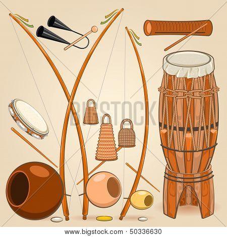 Brazilian Capoeira Music Instruments