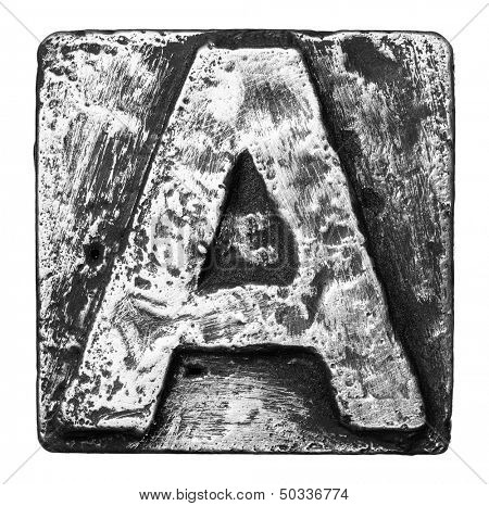 Metal alloy alphabet letter A