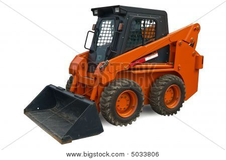 Orange Mini Wheel Excavator