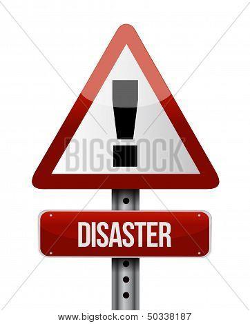 Disaster Road Sign Illustration Design