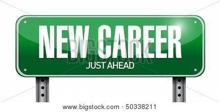 New Career Road Sign Illustration Design
