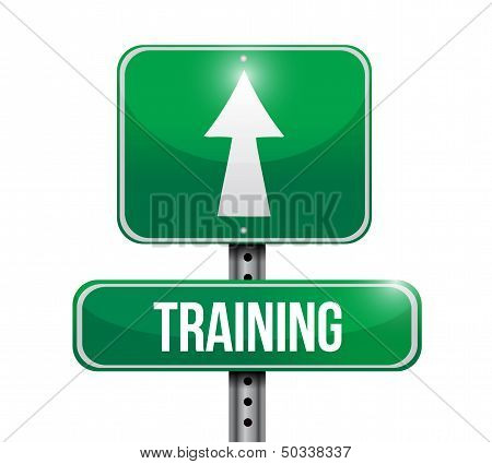 Training Road Sign Illustration Design