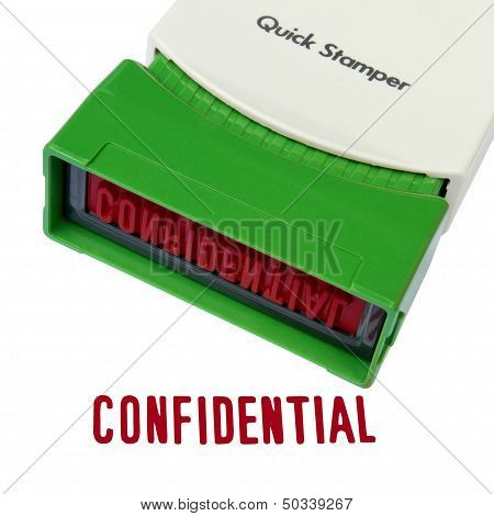 Confidential Stamper Isolated Over White Background