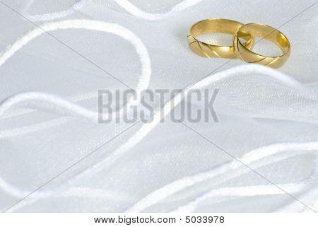 Wedding Rings Over Veil