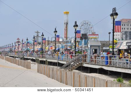 Ocean City Boardwalk in New Jersey