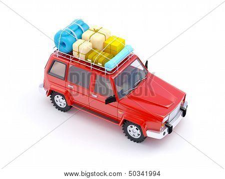 red SUV adventure