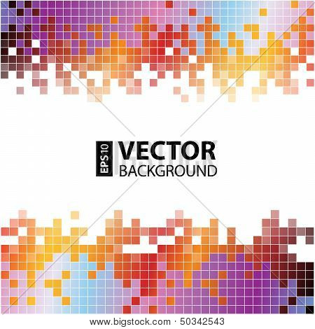 Abstract digital background with colorful pixels