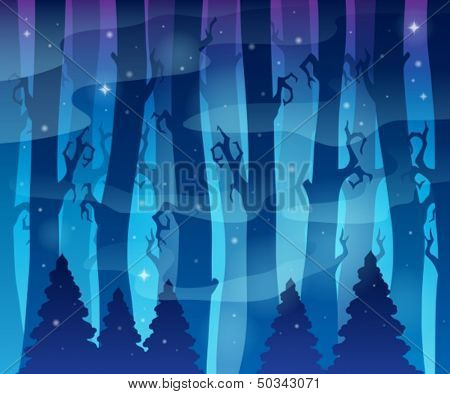 Mysterious forest theme image 6 - eps10 vector illustration.