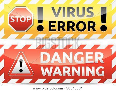Virus Warning Banner
