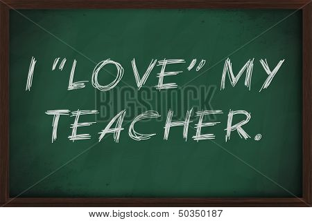 I Love My Teacher Ironic