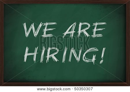 We Are Hiring Job Advertisment