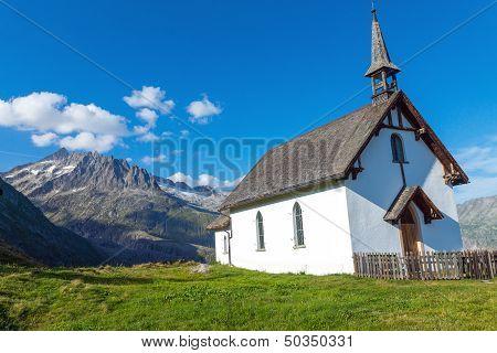 Small church in the alps