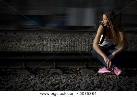 On Rails In Pink Gymshoes