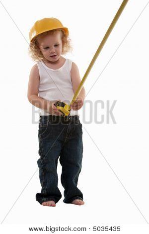 Little Boy Measuring