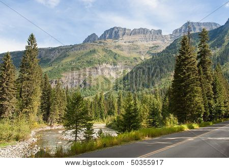 Driving Through Glacier National Park