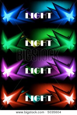 Four Glowing Banners