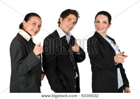 Business People Point To You