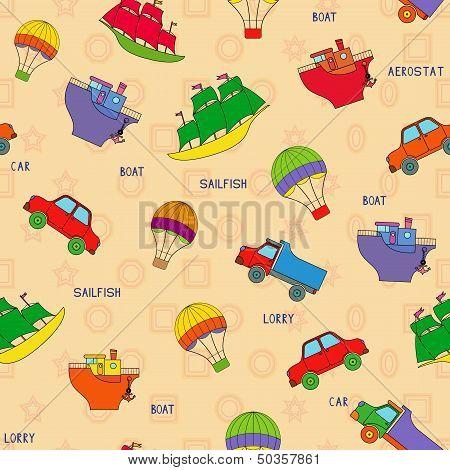 Seamless Various Transport Pattern