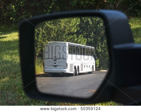Bus In Mirror