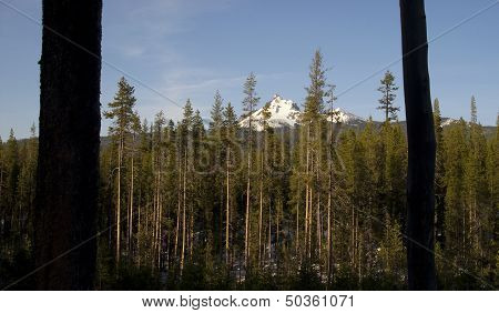 Highway Mount Thielsen Big Cowhorn Extinct Volcano Oregon High Cascades