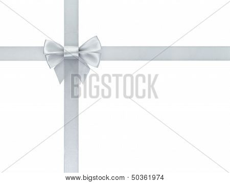 Silver Ribbon Bow Composition