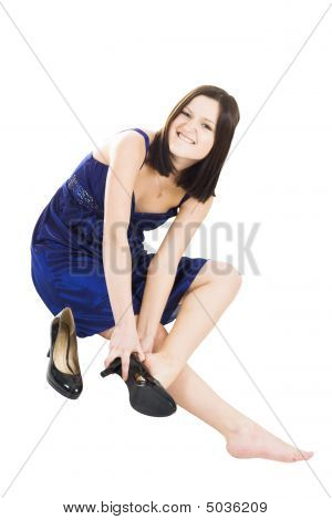 Woman Fitting Shoes