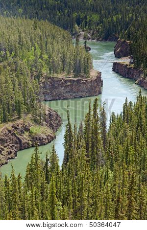 Miles Canyon Of Yukon River Near Whitehorse Canada
