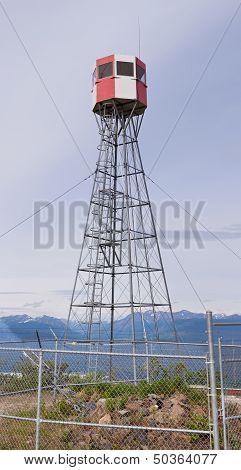 Forest Fire Watch Tower Near Tagish Yukon T Canada