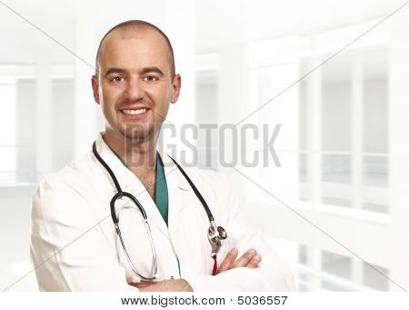 Portrait Of Young Doctor Inside