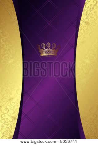 Elegant Background With Crown