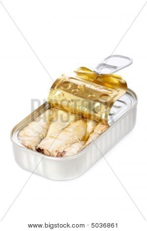 Opened Tin Of Sardines