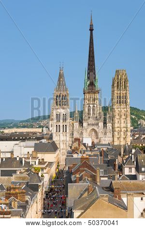Notre-dam Cathedral In Rouen