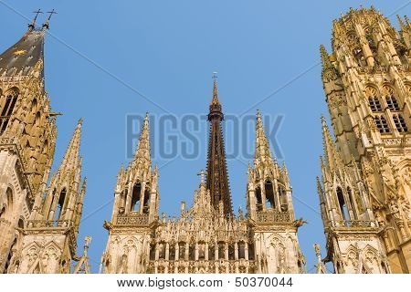 Cathedral Notre-dam In Rouen