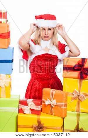 Annoyed Christmas Woman
