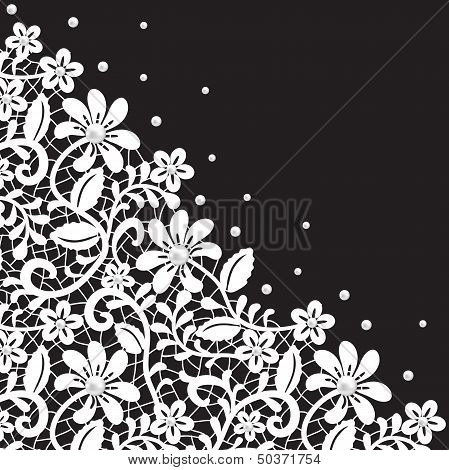 Pearl And Lace Border