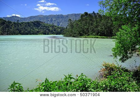 Green Lake at Dieng Plateau