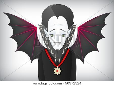 Count Dracula is a charming Halloween vampire