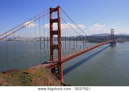 Golden Gate Bridge From Sausalito Hills