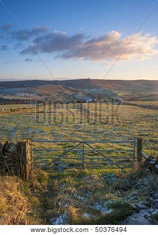 yorkshire dales frosty scene