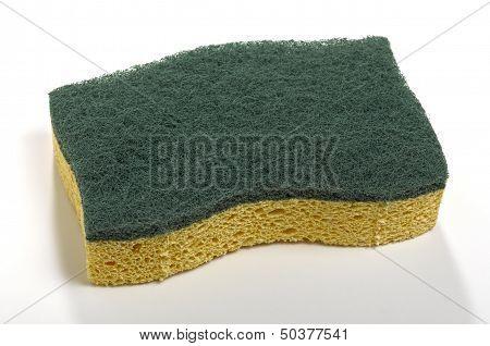 Sponge With Green Abrasive