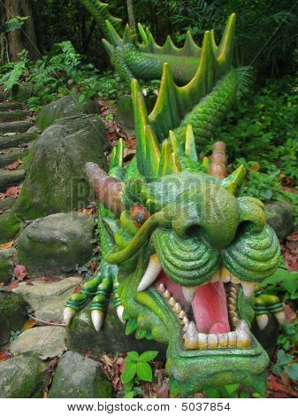 Green Dragon Statue