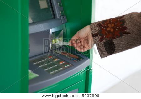 Feminine Hand With Credit Card