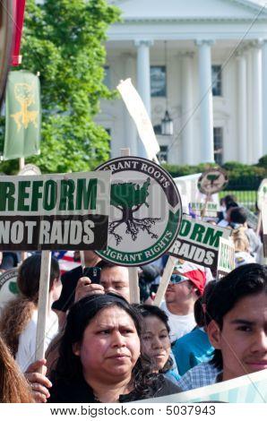 März für Einwanderung Rechte und Reform zum Weißen Haus