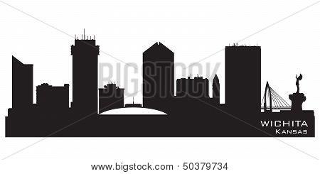 Wichita Kansas City Skyline Vector Silhouette