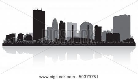 Toledo Ohio City Skyline Silhouette
