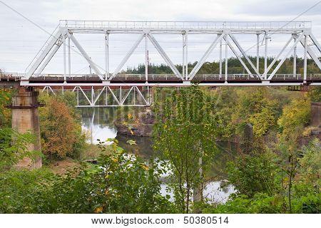 Railroad Bridge In Korosten, Ukraine