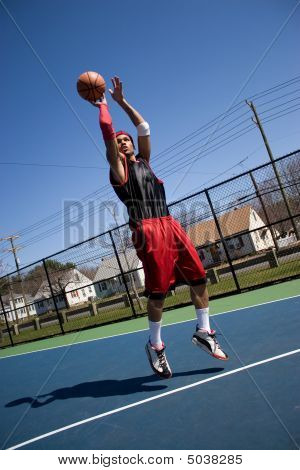 Basketball Player Shooting